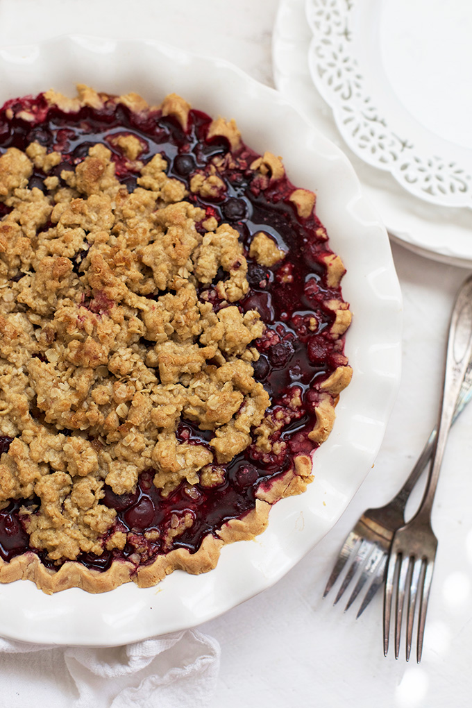 Triple Berry Pie with Crumble Topping - This is SO GOOD!