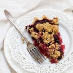 The VERY (berry?) best Triple Berry Pie. The crumble topping is incredible!