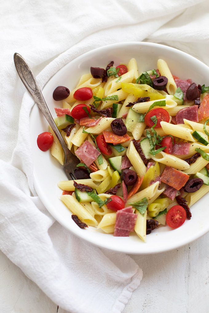 Pasta salad with all the goodies. (AND it's gluten free!)