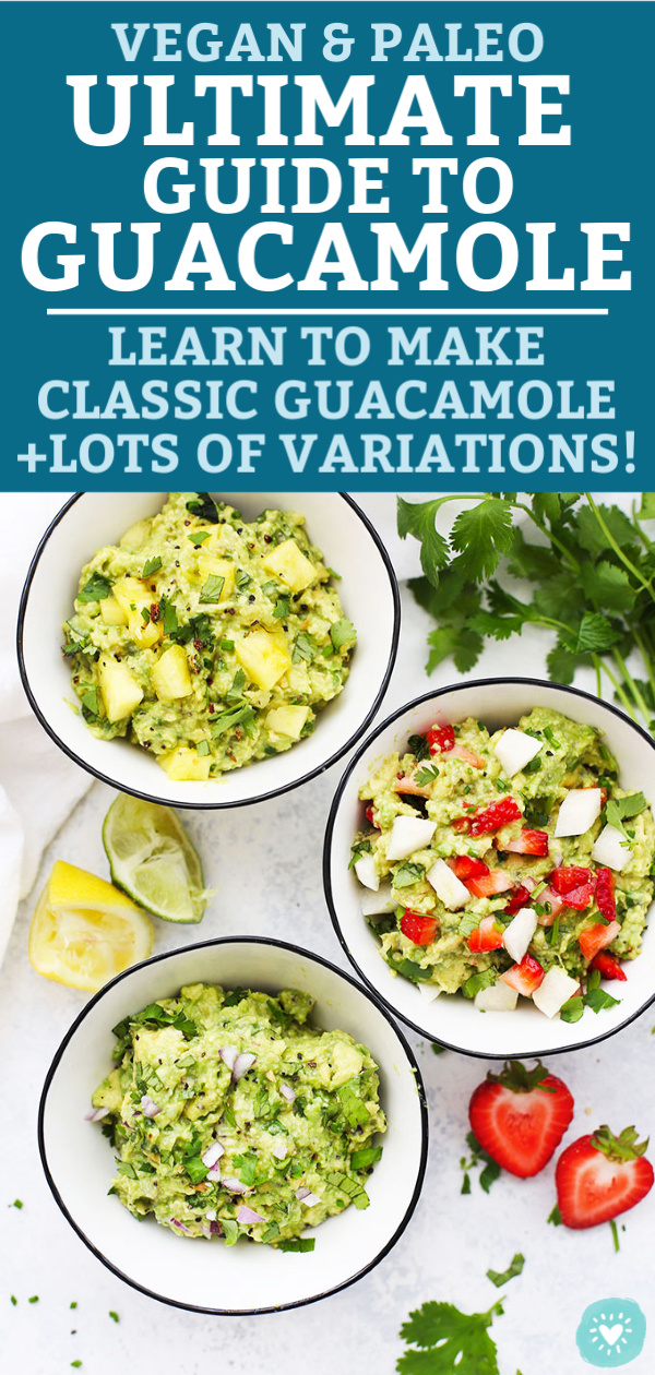 3 Flavors of Guacamole from One Lovely Life