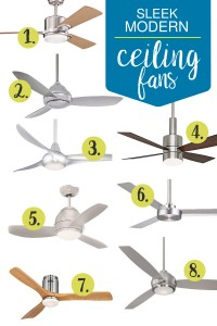 Ceiling fans don't need to be an afterthought. These options are all sleek, modern, and help tie your room together.