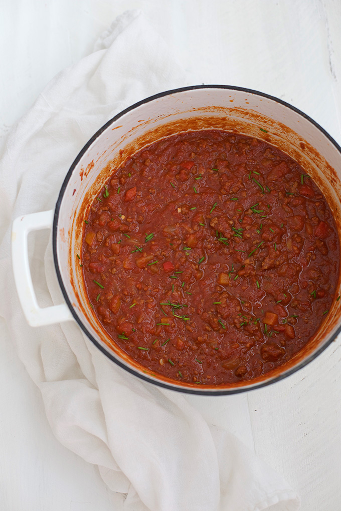 The coziest pot of classic chili. Loaded with goodness and you control the level of heat.