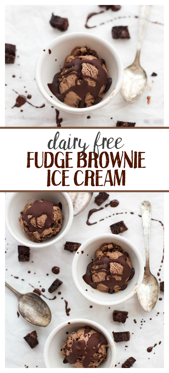 Chocolatey, decadent Dairy Free Fudge Brownie Ice Cream. It tastes like magic.