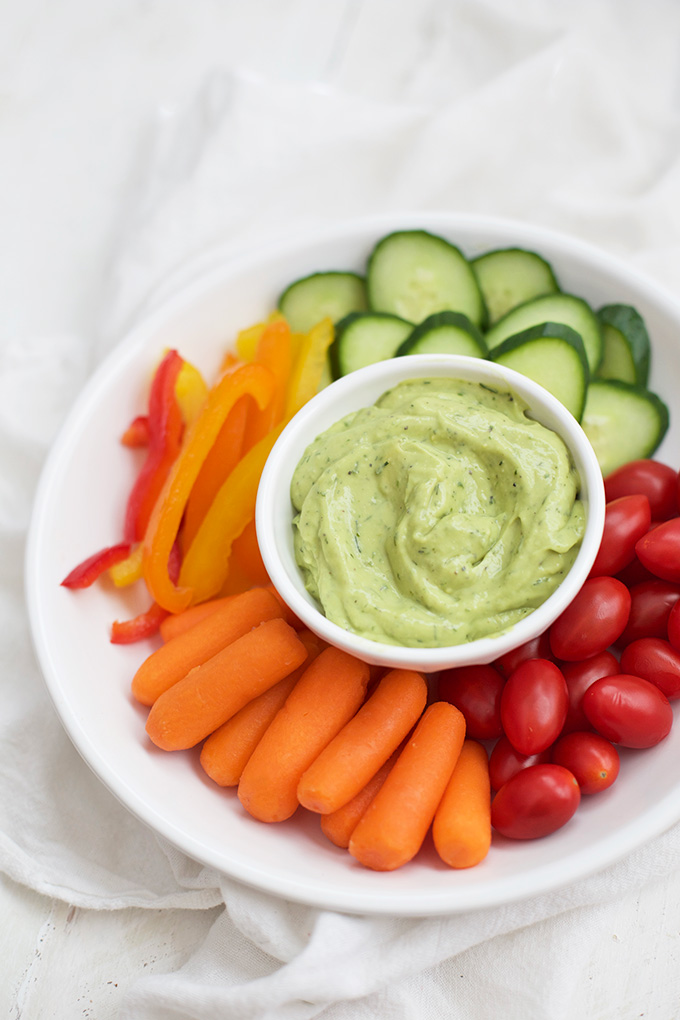 Fresh, flavorful avocado ranch. This creamy dip is perfect for chips, crudités, potato wedges, and more!