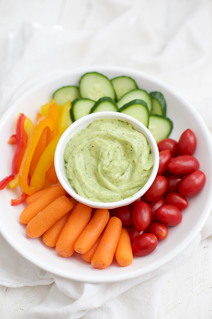Avocado Ranch - creamy, herby, bright, and full of flavor. This is the perfect dip, dressing, or spread!
