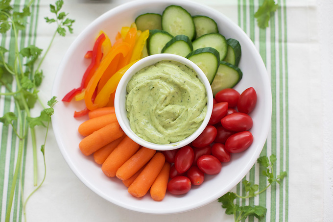 Luscious avocado ranch is going to be your new favorite dip. You'll want to put it on everything!