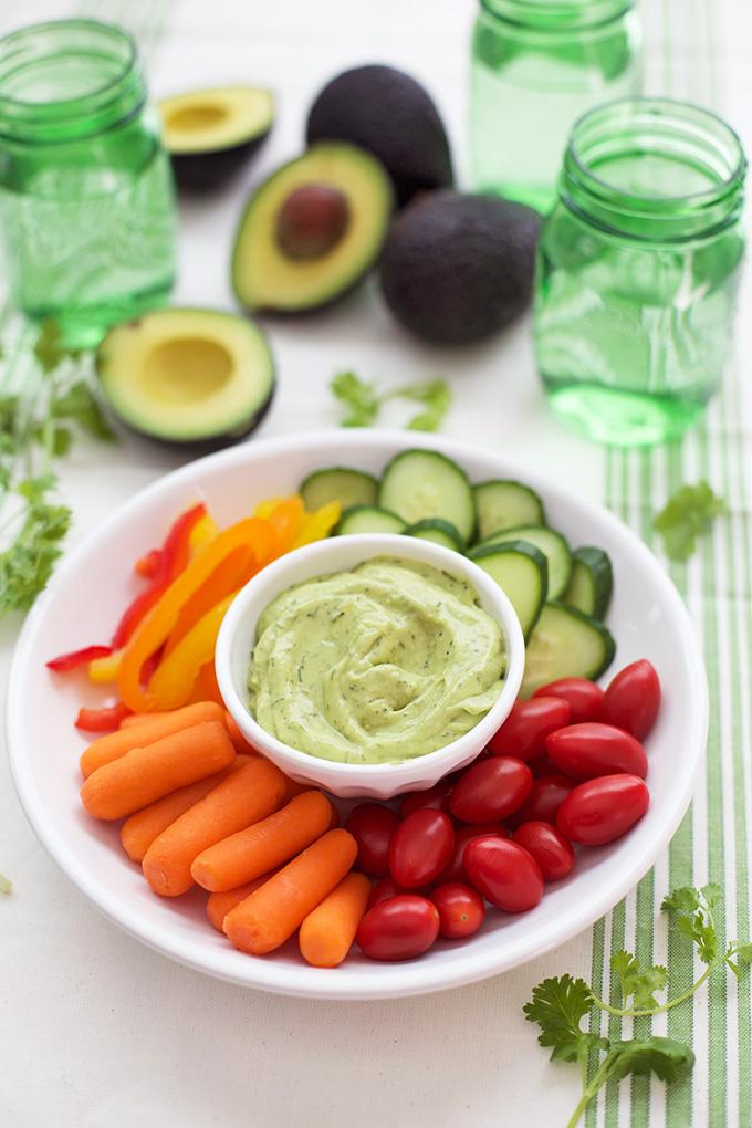 Creamy Avocado Ranch - Just add your favorite veggies!