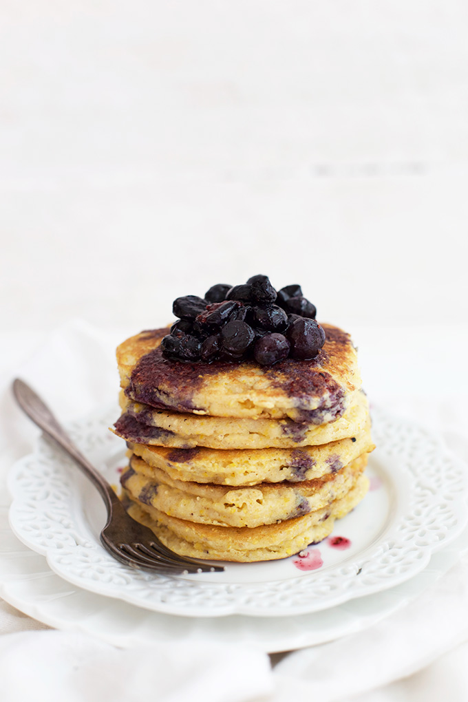 Add a stack of these Cornmeal Pancakes to your weekend! You probably have the ingredients on hand already!