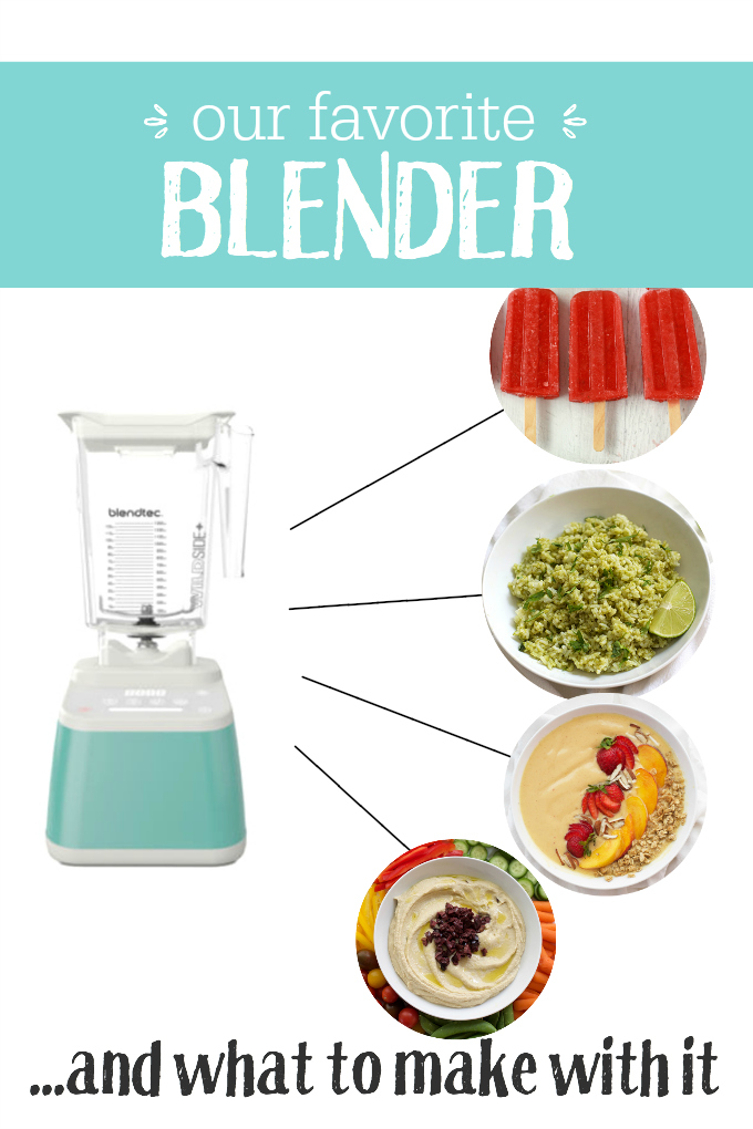 Our favorite blender - This baby makes everything from smoothies, to sauces, to hummus, and more!