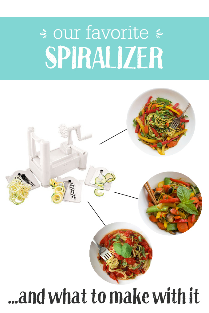 Our FAVORITE Spiralizer + What we make with it.