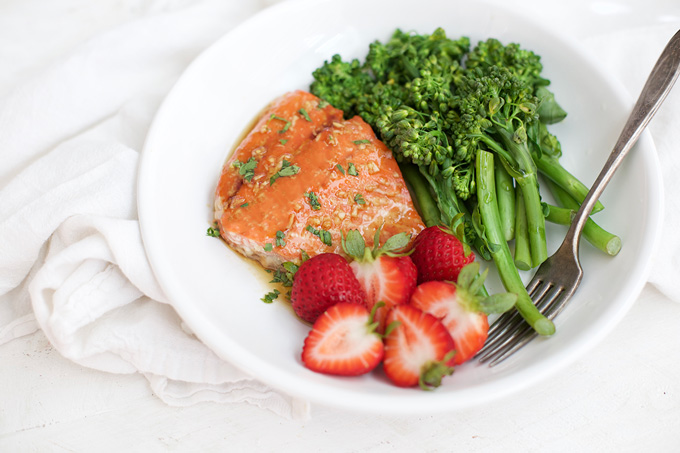 Simple Honey Garlic Salmon. Just a few ingredients, but there's BIG flavor!