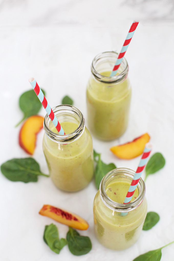 Pineapple Peach Perfection - This pineapple peach smoothie is bursting with flavor, and the secret protein boost makes it a perfect breakfast or snack.