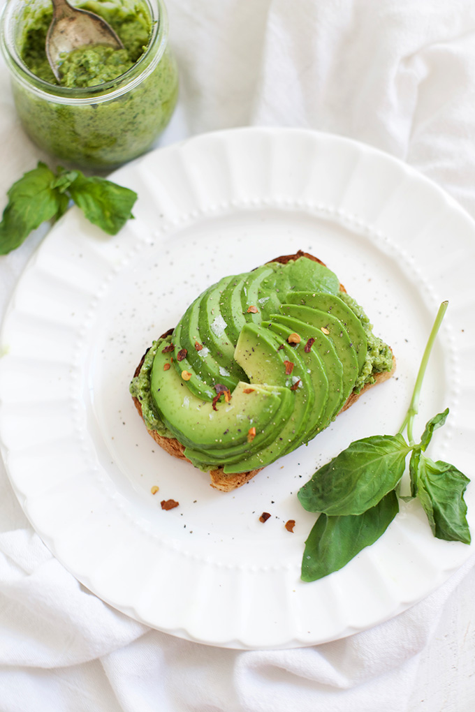 Our simple dairy free pesto makes the BEST avocado toast!
