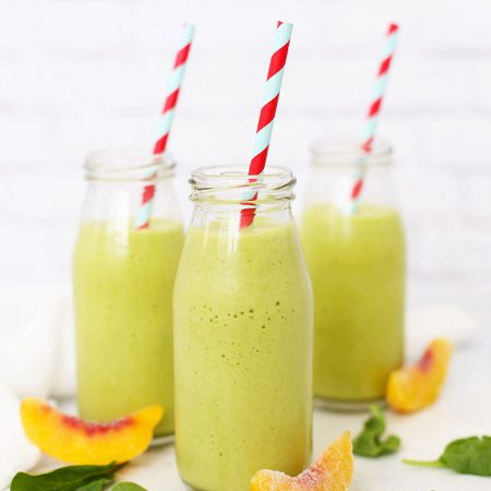 Pineapple Peach Perfection Smoothie - This pineapple peach smoothie is the green smoothie even your kids will love! (Gluten free, paleo, or vegan!)