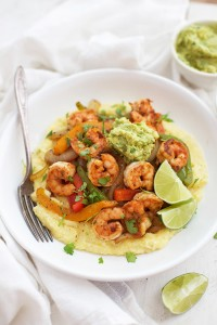 Shrimp Fajita Bowls - We love this chili and lime seasoning, and everyone likes building their own bowl.