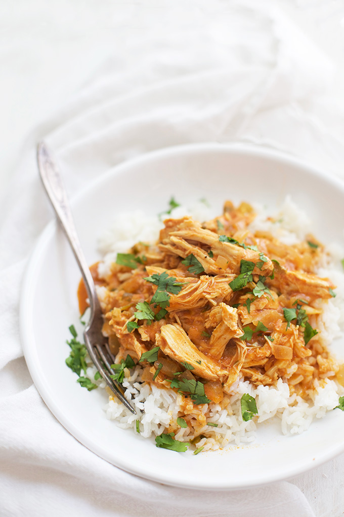 Let the slow cooker do the work for you with this Chicken Tikka Masala. (gluten free, dairy free)
