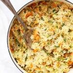 Simple Veggie Rice Pilaf - Even my kids LOVE this vegetable rice pilaf. (gluten free, vegan)