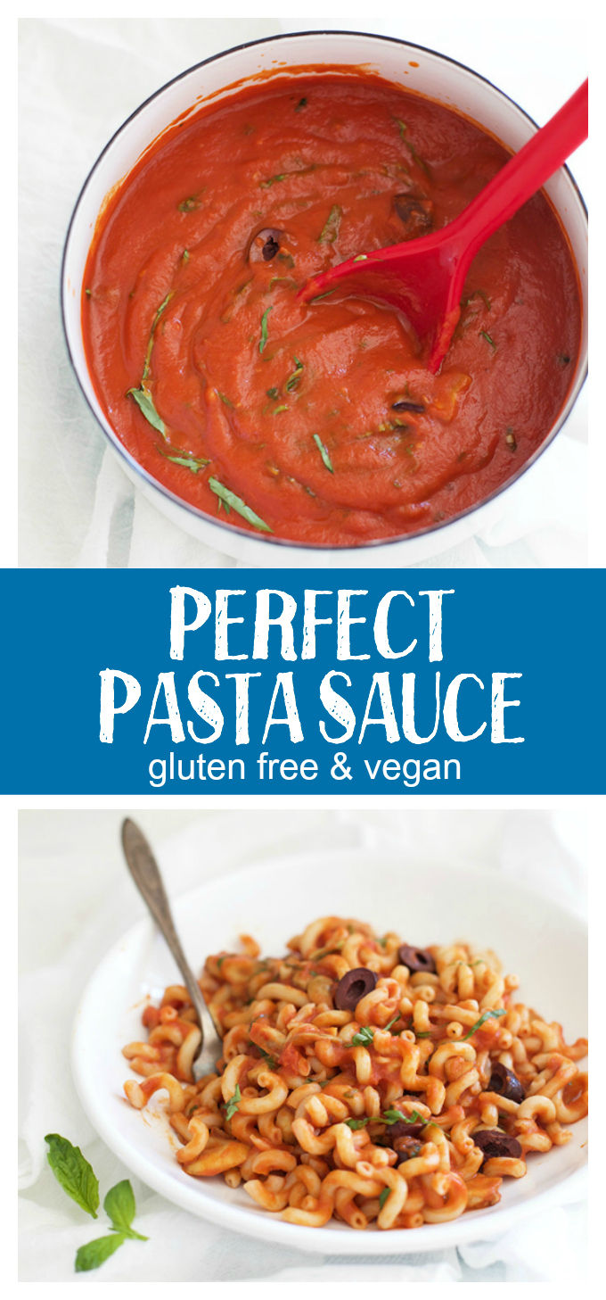 Perfect Pasta Sauce - this flavorful sauce is amazing with pasta, veggie noodles, or meatballs!