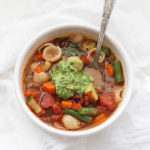 Pesto Minestrone - The perfect healthy comfort food to fill you up without weighing you down!