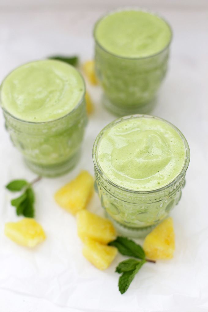 If you've been eating a lot of sweets, this Pineapple Mint Smoothie is the perfect thing to reset your body.