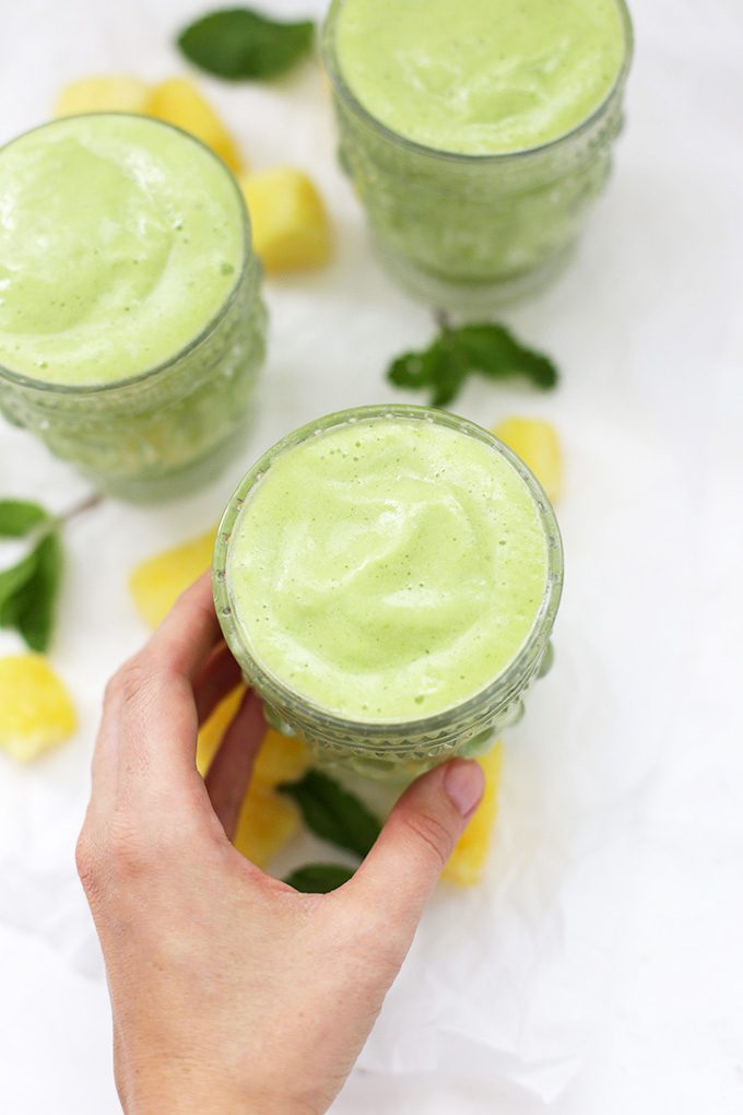 Pineapple Mint Smoothie - These are bright, fresh, and fabulous.