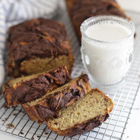 Gluten Free Chocolate Swirl Banana Bread. This is the good stuff!