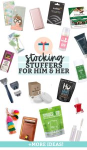 Stocking Stuffer Ideas for Him & Stocking Stuffer Ideas for Her from One Lovely Life