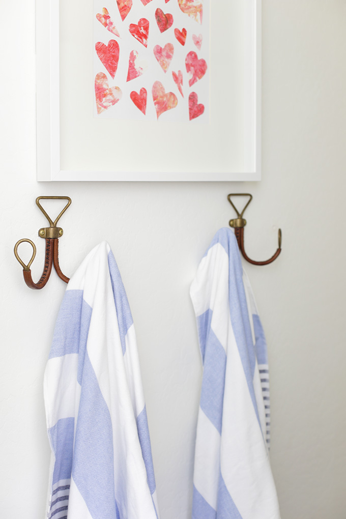 Walking the line between masculine and feminine in our kids' shared bathroom. So many great details in this room!