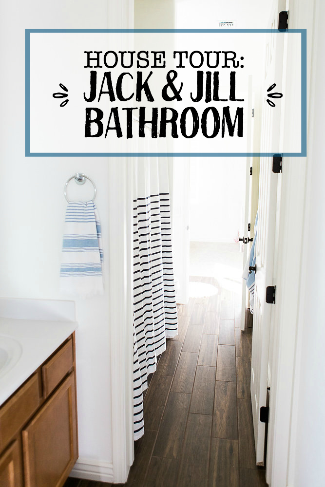 Come tour our Jack and Jill Bathroom! We love this crisp, clean space!