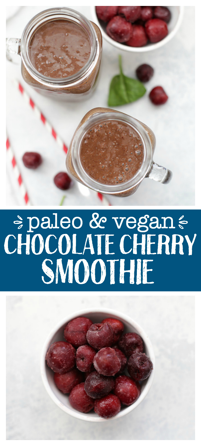 Chocolate Cherry Smoothie - Nothing like an antioxidant and protein boost that tastes like dessert!