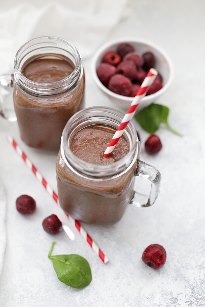 Drink up! This Chocolate Cherry Smoothie is such a favorite. Gluten free & vegan!