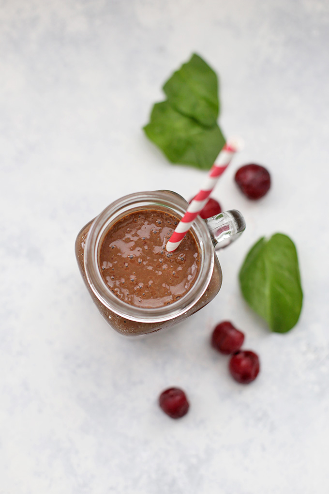 Chocolate Cherry Smoothie - Loaded with antioxidants, and they taste like dessert!
