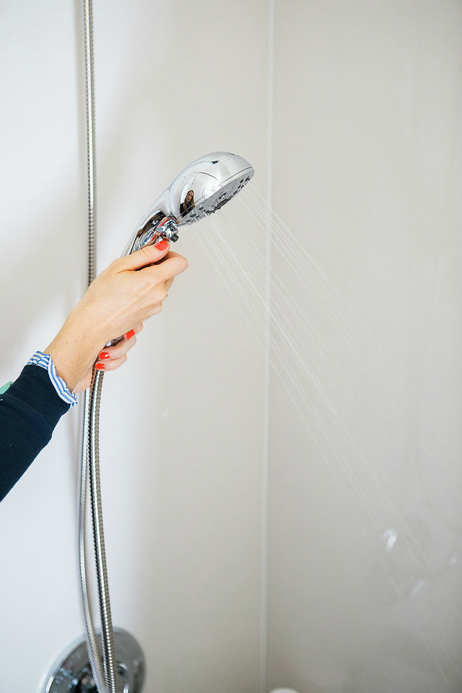 Simple Swaps with Delta In2Ition - This is a shower head and handheld shower in one, perfect for everything from a back massage to rinsing shampoo out of babies' hair!