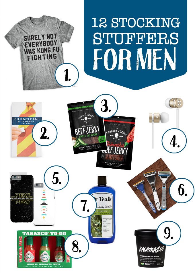12 Stocking Stuffer Ideas for the Man in your life (husband, son, boyfriend, whatever!)