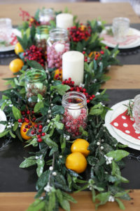 Christmas Tablescape - I love the mix of colors and textures. So festive and happy!