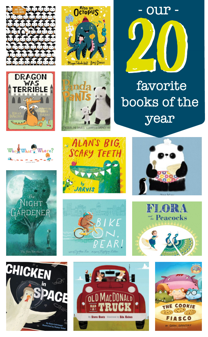 Our 20 FAVORITE Kids' books of the year. Clever stories, beautiful illustrations, and more!