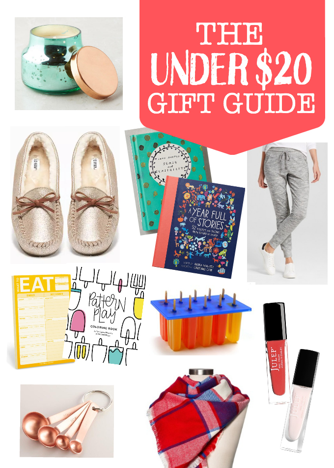 The Under $20 Gift Guide - Great gifts for less than $20. Perfect for friends, neighbors, family, teachers, or YOU!