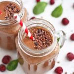 Chocolate Cherry Smoothies (Paleo or Vegan) - These smoothies taste like a shake, but are made from healthy ingredients!