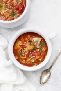 Cozy up to a bowl of Cabbage Roll Soup - the flavor is AMAZING!