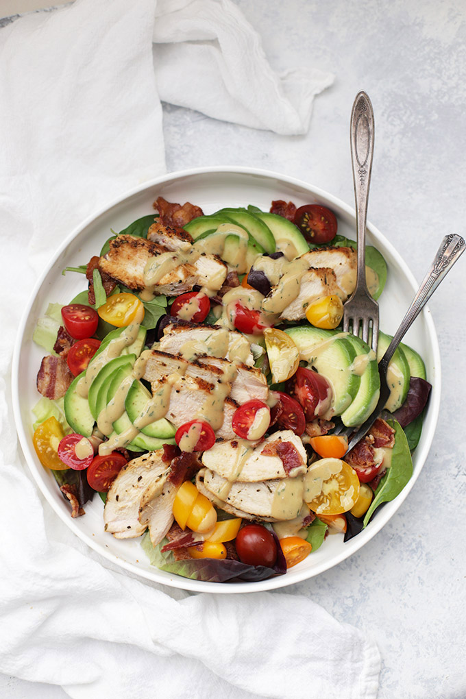 Turning the classic BLT into a salad with this Rosemary Chicken BLT Salad