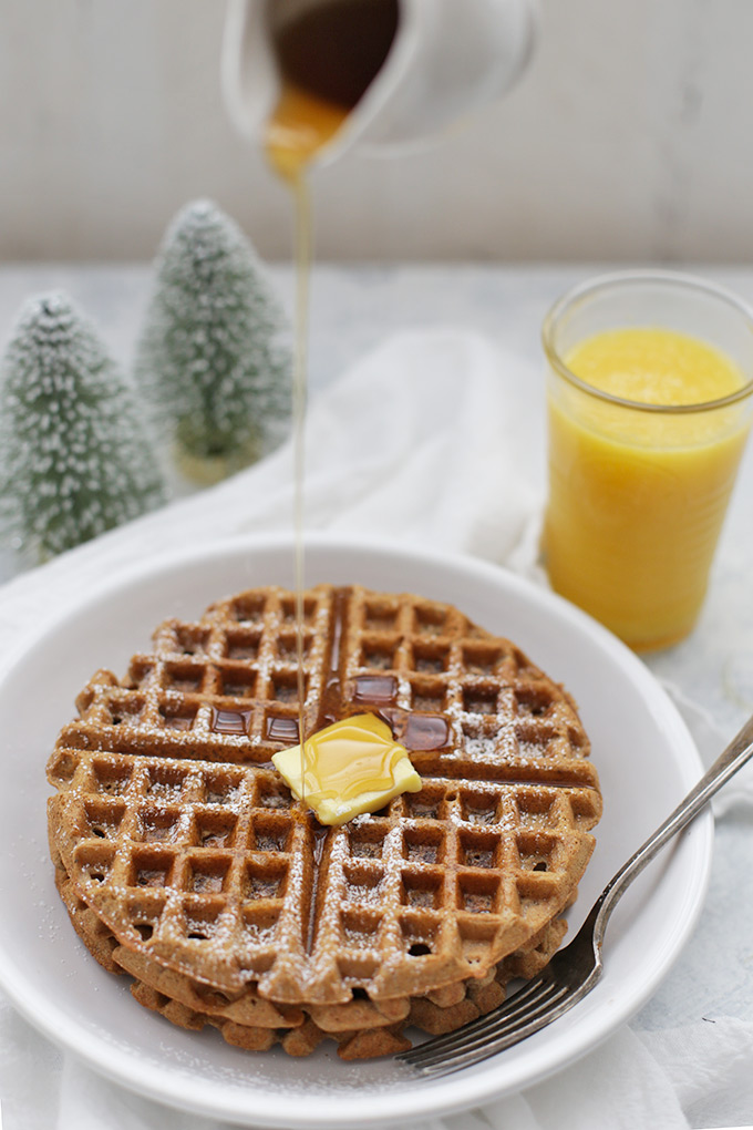 Gluten Free (or not) Gingerbread Waffles - These are amazing! We make them for Christmas.