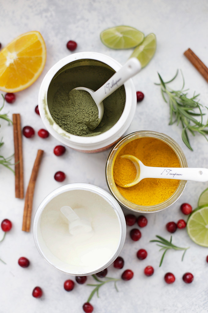 Give your holiday drinks a superfood boost! Check out 3 of our favorite superfood holiday drink recipes all in one post.