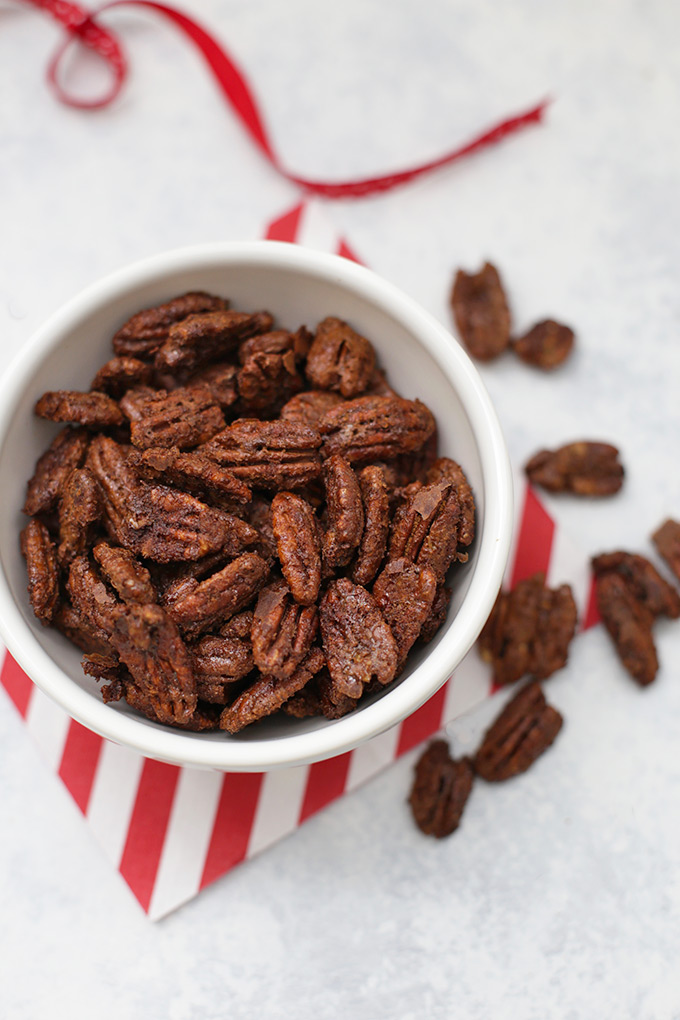 All I want for Christmas is candied pecans. These ones--sweetened naturally--are EXTRA AMAZING.