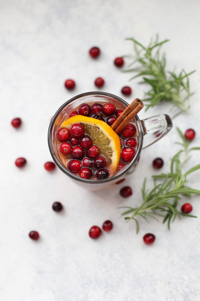 Classic Christmas Wassail with a superfood boost. You'd never believe what I put in this!