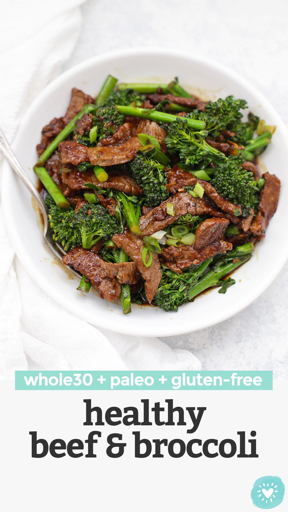 Healthy Beef and Broccoli - This take-out favorite is so easy to make at home and--BONUS--it's paleo, gluten free, and Whole30 approved! // paleo beef and broccoli // whole30 beef and broccoli, low carb beef and broccoli // #paleo #stirfry #lowcarb #beefandbroccoli #glutenfree #whole30