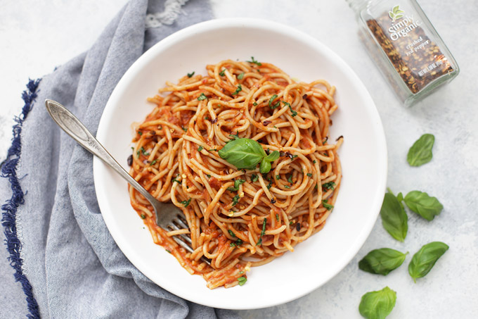 Arrabbiata Sauce - The perfect, just-spicy-enough pasta sauce for dinner. We love this one!