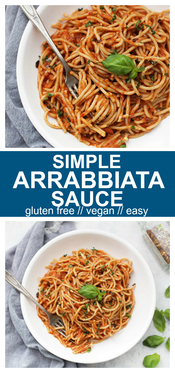 Simple Arrabbiata Sauce - This is the EASIEST pasta sauce recipe I know. I almost always have everything in my pantry, and it can be done in minutes.