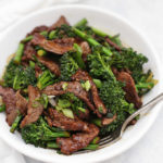Takeout made lighter at home - Healthy Beef and Broccoli! This one is gluten free, paleo, and Whole30 approved!