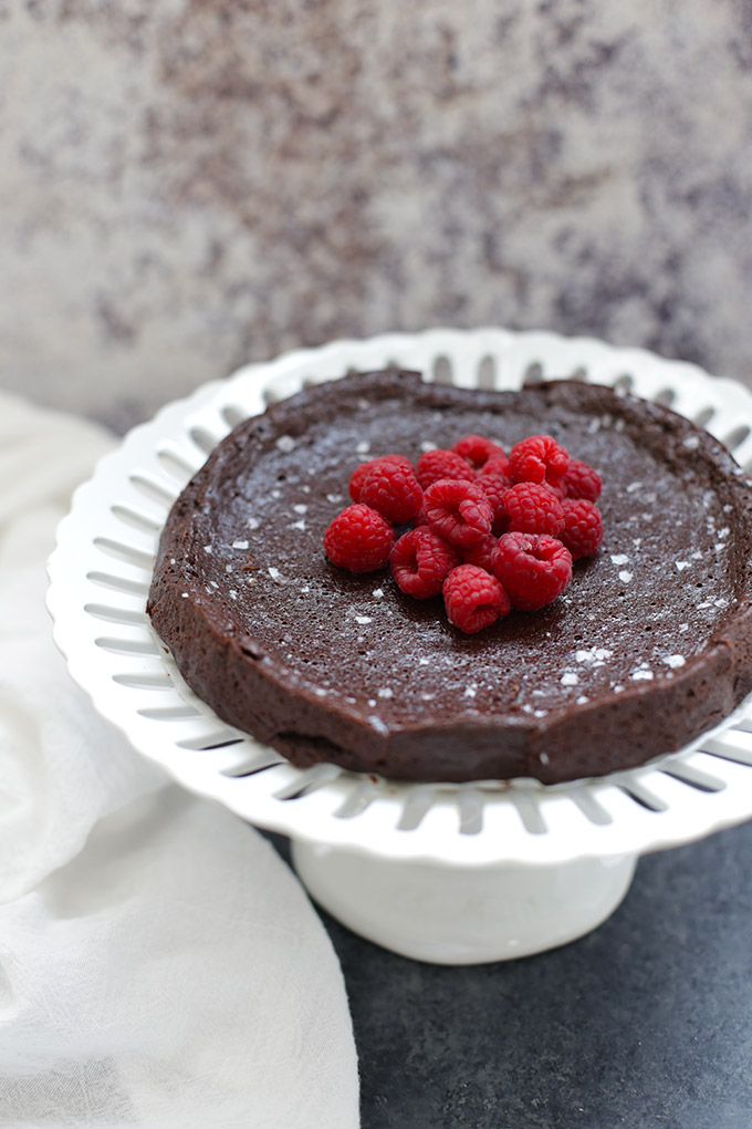 This flourless chocolate cake is AMAZING. Dairy free, gluten free, and naturally sweetened, but you'd never know. It's SO GOOD!