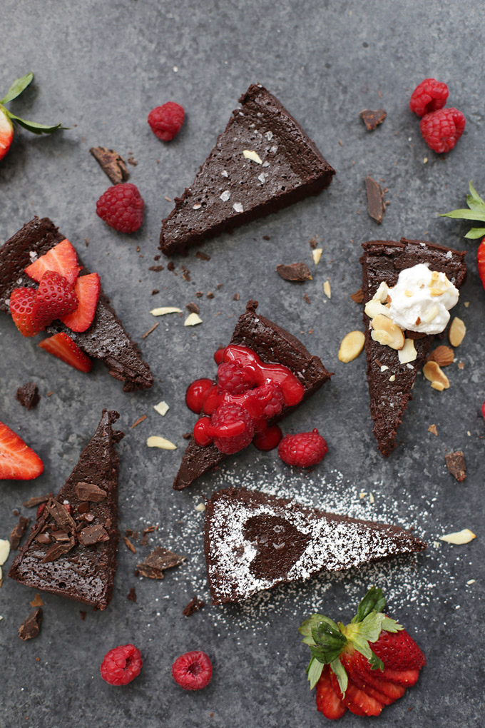 Dairy Free Flourless Chocolate Cake - Fudgy, dense, and perfectly delicious. This one is amazing.